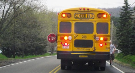driving-behind-school-bus