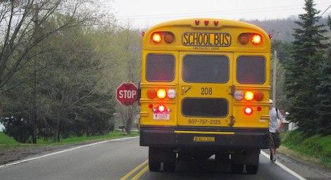 driving-behind-school-bus